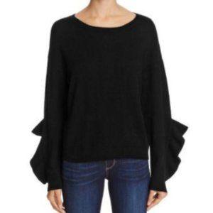 Naadam Ruffle-sleeve Cashmere Sweater